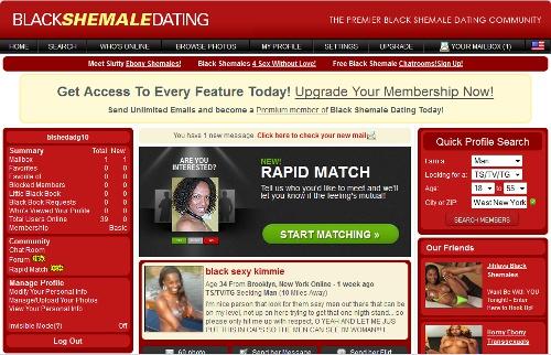 Black Shemale Dating members